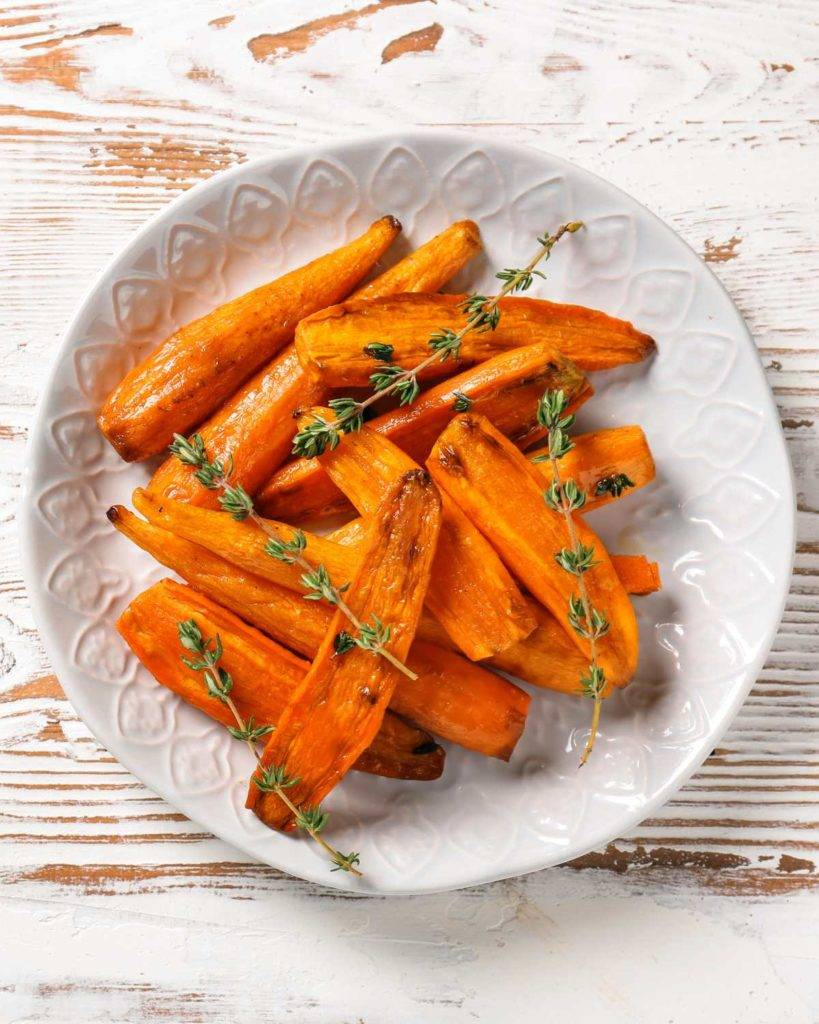 Roasted Herb Carrots